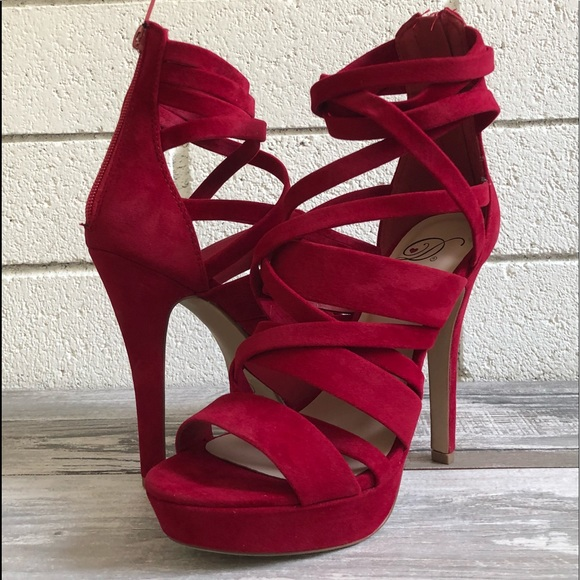 2d849c75a9ec5 Shoes | Sexy Red Strappy Platform High Heel | Poshmark